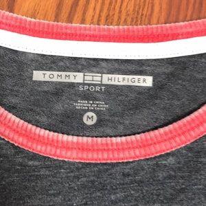 Tommy Hilfiger Tops - EUC Tommy Hilfiger gray short sleeve crop top